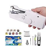 ZYX - Máquina de coser de mano portátil mini inalámbrica para coser ropa, juguetes, cortinas