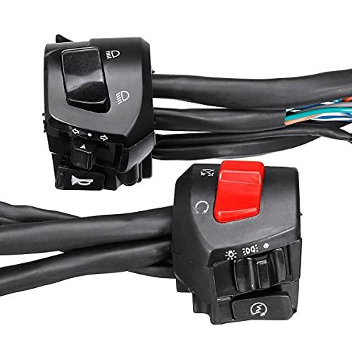PIAO piaopiao Universal 7/8'22mm Motoradora de la Motocicleta Interruptores de la señal de Giro de la señal del Faro de la señal eléctrica del Interruptor de Control del Manillar