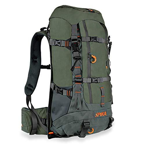 SPIKA Hunting Backpack Internal Frame Hiking Backpack Waterproof Daypack for Extendable 40L+ Capacity