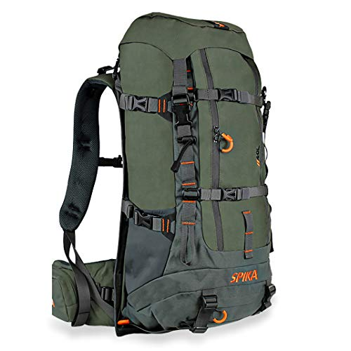 SPIKA Hunting Backpack Internal Frame Hiking Backpack Tactical Military Bags Waterproof Daypack for Extendable 40L+ Capacity