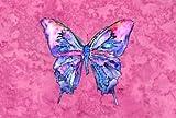Farfalla su tessuto rosa tovaglietta