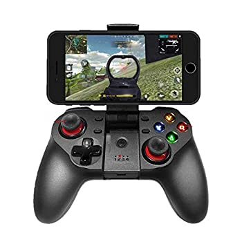 TECGAMER Mobile Game Controller Wireless Bluetooth Gamepad Joystick Multimedia Game Controller Compatible with Android Windows PC Perfect for The Most Games-NO Supporting iOS 13.4 or Above