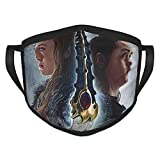 SANGO Juego de Tronos Máscara Ajustable cómoda para Hombres y Mujeres, decoración Facial, Neutra y Reutilizable, Elegante Funda Lavable, máscaras Negras