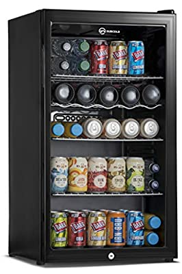 Subcold Super85 LED - Under-Counter Fridge | 85L Beer, Wine & Drinks Fridge | LED Light + Lock and Key | Low Energy A+ (Black, 85L)