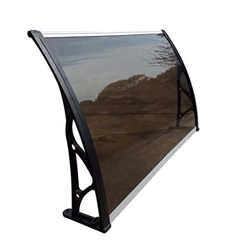 Lw Canopies deurluifel, polycarbonaat regenbescherming voor voordeur Porch 80×80cm