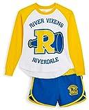 Riverdale Pijamas Mujer Verano, Conjunto de 2 Piezas con Pantalones Cortos Mujer y Camiseta a Juego, Ropa para Dormir Vacaciones 100% Algodon, Regalos para Mujeres y Adolescentes (36-38)