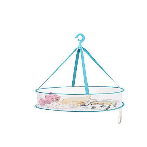 CHENSHJI Tendedero de Ropa de Malla Cesta De Ropa Cesta De Secado Plegable Apreciación De Viento Secado Calcetines Cesta De Secado Neto (Color : Azul, Size : 61x13x50cm)