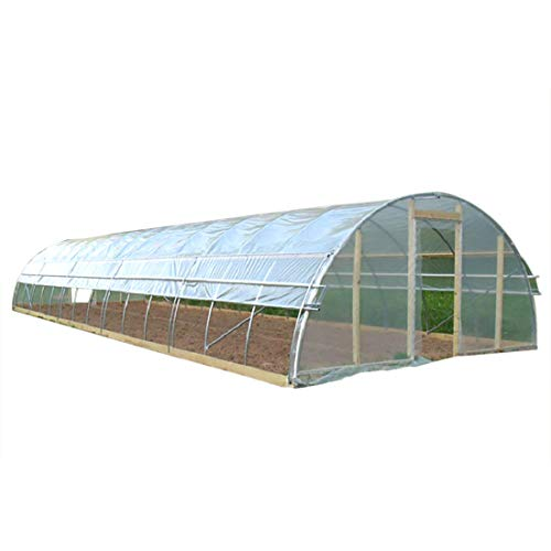 Agfabric 3.9Mil Plastic Covering Clear Polyethylene Greenhouse Film UV Resistant for Grow Tunnel and Garden Hoop, Plant Cover&Frost Blanket for Season Extension,Keep Warm and Frost Protection,6.5x32ft