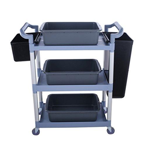 QY- Trolley - 3 Schichten, die Auto-Plastik-Bowling-Wagen sammeln Trolley-Restaurant-beweglicher Gestell-Lieferungs-Auto-Wagen Trolley (größe : 86 * 42 * 91cm)