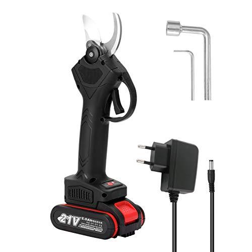 Podadora eléctrica inalámbrica de 21 V, tijera de podar, árbol frutal eficiente, bonsái, poda de ramas, cortador, herramienta de jardinería