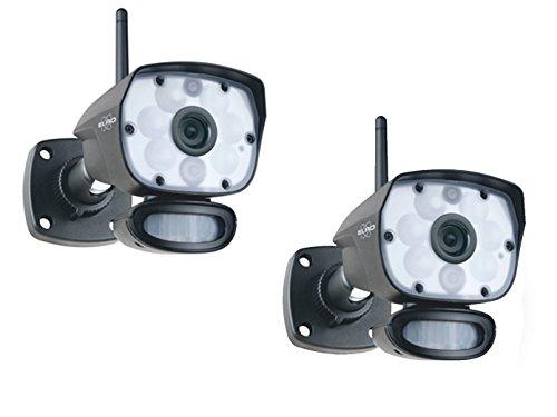 ELRO IP Outdoorcameraset met bewegingsmelder, nachtzicht tot 12 m, bediening via app