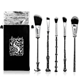 Wizard Wand Brushes,WeChip 5PCS Professional Metal Handle Brush Set Anime Peripheral Christmas Gift for Women Girls
