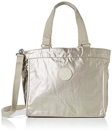 Kipling New Shopper L - Borse Tote Donna, Oro (Cloud Metal), 48.5x34x17.5 cm (B x H T)