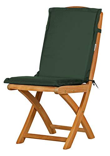 Auflage für Gartenstuhl mit Rücken, grün, dralon, waschbar ✓ Made in Germany ✓