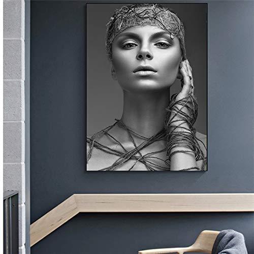 fdgdfgd Impresión de Fotos en Blanco y Negro, Modelo de Moda, imágenes para niños, decoración del hogar, Arte, decoración de Pared, Lienzo, póster Impreso, Mural