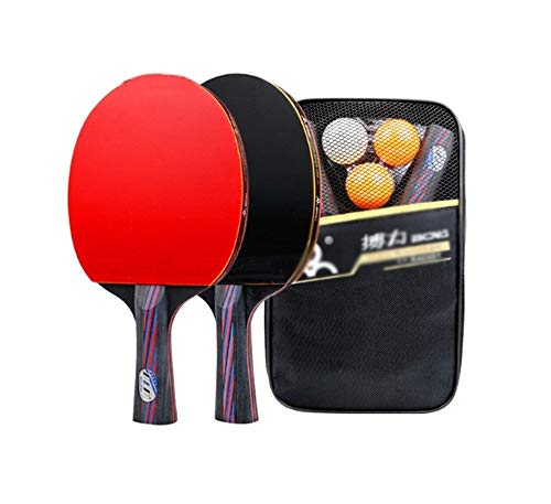 Risareyi - Raqueta de tenis de mesa, juego de ping-pong, para principiantes, profesionales, entrenadores, aficionados y juegos, Horizontal