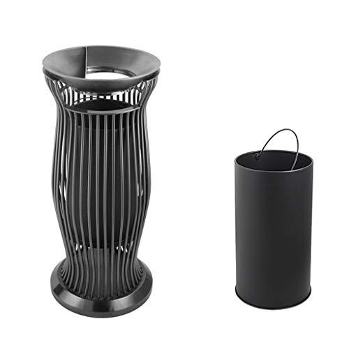 Liangzishop Cubos de Basura para Exterior La Basura Bote de Basura de 12 litros de Interior y Exterior Botes de Basura de Acero Comercial Puede por Cafeterías Campus y Parques