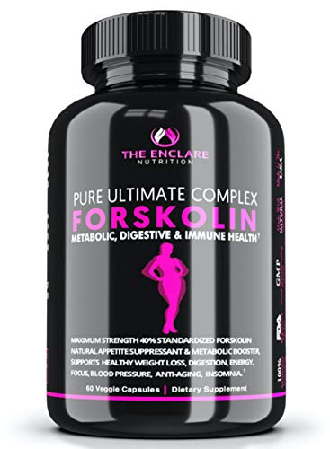 100% Pure FORSKOLIN Extract for Weight Loss, Belly Buster, Appetite Suppressant, Burn Fat, Lose Weight Fast, Lose Belly Fat, Diet Pills, Safe & Effective Weight Loss Supplement for Men & Women