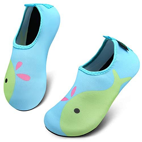 katliu Zapatos para Niño Niña Zapatos de Playa Bebe Zapatillas de Piscina Escarpines Calzado para Agua(067 Verde, 22/23 EU)