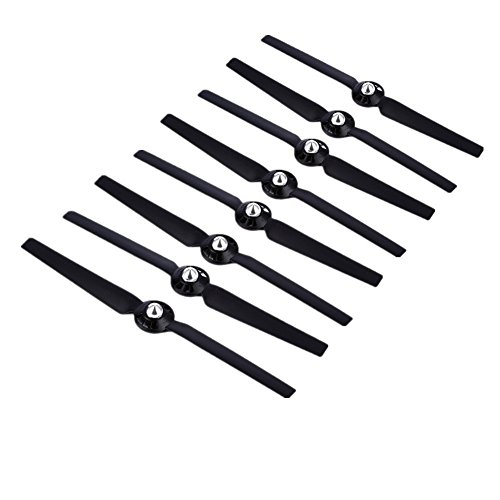 Hooshion 4 Pairs Propellers Rotor Blade Sets A & B for YUNEEC Q500 Q500M Q500+ Q500 4K Typhoon G RC Air Force Airplane Helicopter Propeller Quadcopter Drone(Black)