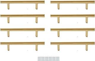 Hysstore 8 Pièces Poignées de Meubles 96 mm T Forme Poignée d'armoire Poignées de Tiroirs en Alliage d'aluminium pour Cuis...