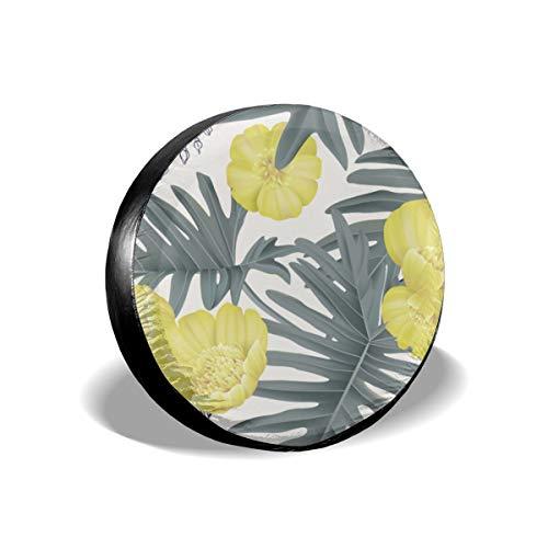 Huabuqi Creeping Butter Cup Flowers Cover mit Elastic Hem-Durable Design hält Schmutz, Regen und Sonne von Ihrem Ersatzreifen 16 Zoll entfernt