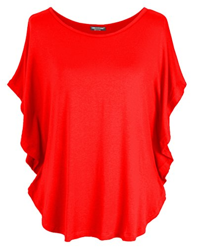 Emma & Giovanni - T-Shirt/Top - Donna (Rosso, S-M)