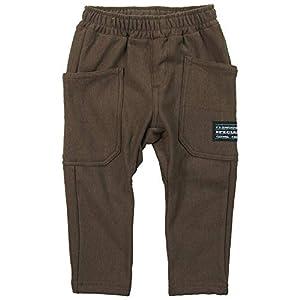 SHORH KID'S(ショーキッズ) ストレッチ裏起毛 ポケット付きサルエルパンツ《秋冬対応》 チャ 80cm SD-70484
