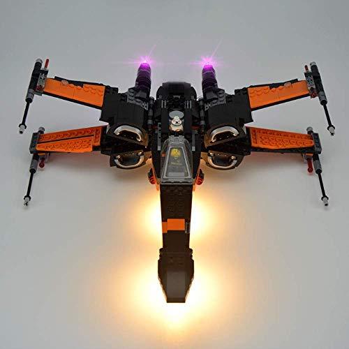 WDLY Led Kit De Iluminación En Lego ala-X De Construcción Ladrillos Compatible con Lego 75102 Bloques De Construcción del Modelo No Incluye El Conjunto De Lego
