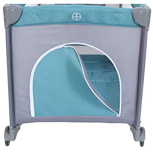LCP Kids Baby-Reisebett 120x60 klappbar mit Neugeborenen Einlage Wickelauflage in Grün - 6