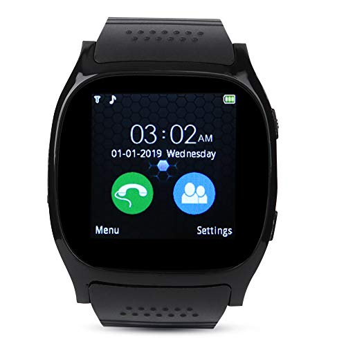 Producto Multifuncional T8 Bluetooth Smart Phone Watch Step Counter Tarjeta De Enchufe Pulsera Black para Androidblack