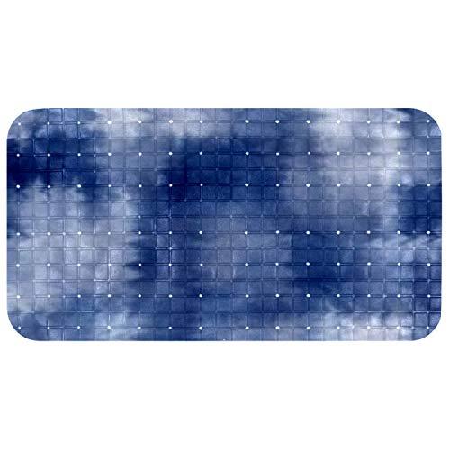 Bennigiry Bathtub Mats Non Slip Bathroom Shower Mat Foot Mat with Suction Cups 100% Non-toxic Flower Reflection
