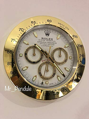 Reloj De Pared Rolex Movimiento Mudo Daytona Oro
