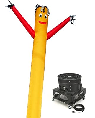 LookOurWay Air Dancers Inflatable Tube Man Complete Set with 1 HP Sky Dancer Blower, 20-Feet, Yellow/Red