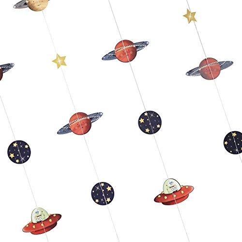 Ginger Ray Space Adventure Party Raumschiff & Roboter, Cupcake-Förmchen & Topper, gemischt Hängedeko N/A Hintergrund
