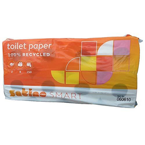 wepa 060610 Toilettenpapier Smart, 2-lagig, weiß
