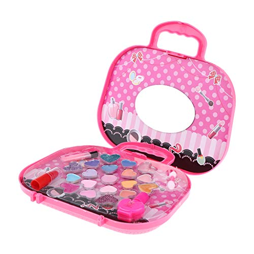 lahomia Lovely Princess Makeup Kit Cosmetics Set Valigia Pink Kids Giochi di Ruolo