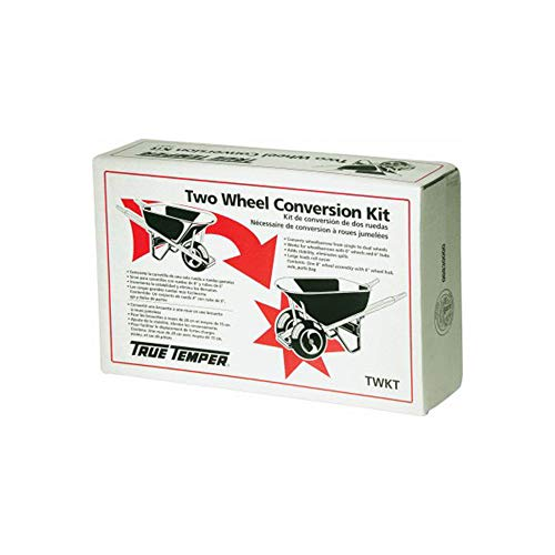 True Temper TWKT Wheelbarrow Two Wheel Conversion Kit,Black