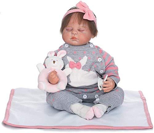 Baby Doll muñecas Reborn, muñecas realistas, 50 cm Realista muñeca recién Nacida para Dormir, gordita niña muñeca Reborn Girls