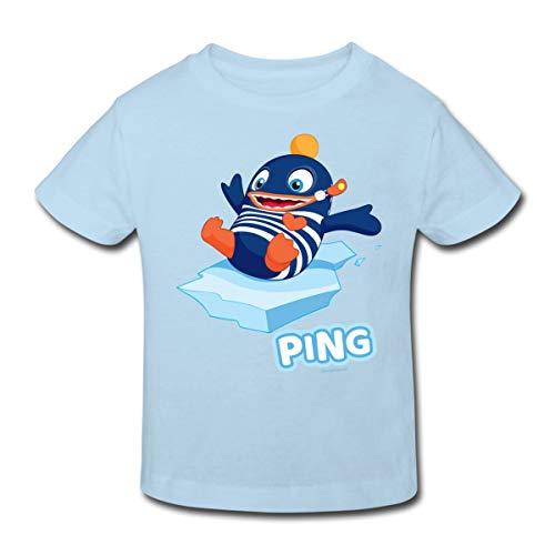 Sorgenfresser Ping Auf Eisscholle Kinder Bio-T-Shirt, 152, Hellblau