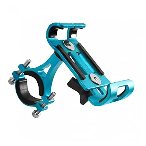 1pc Bicicleta Soporte Para Teléfono Ajustable Motocicleta De La Bicicleta Soporte Para Teléfono Soporte De La Horquilla De Aleación De Aluminio De Montaje Estable Soporte Para Bicicleta Azul Del