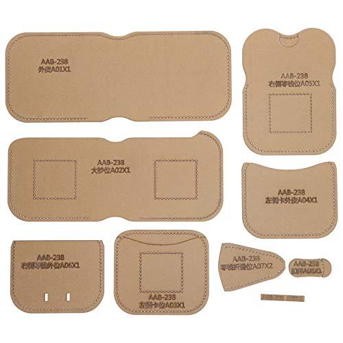Plantilla de acrílico para billetera, conjunto de plantillas de monedero, molde de cuero hecho a mano para bricolaje, plantilla para hacer bolsos de mano, patrón de billetera corta, molde para