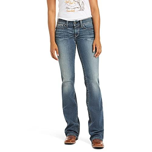 ARIAT womens R.e.a.l. Mid Rise Boot Cut Rebar M4 Slim Fit Durastretch Straight Leg Jean Work Jeans for Men, Rainstorm, 32 US