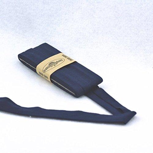 Oaki Doaki Jersey-Einfassband 3m, elastisches Schrägband, Breite: auf 2cm vorgefalzt, dunkelblau(009)