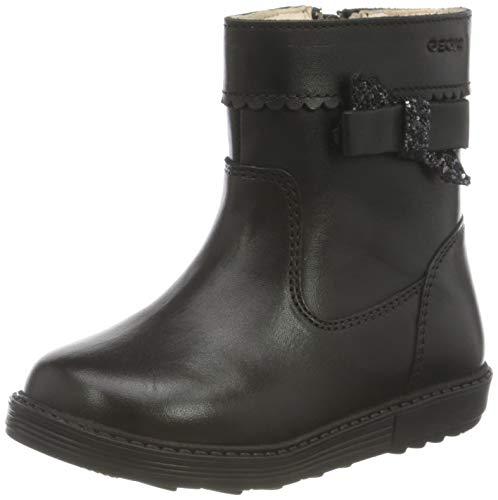 Geox B Hynde Girl B Mid Calf Boot, Black (Black), 23 EU