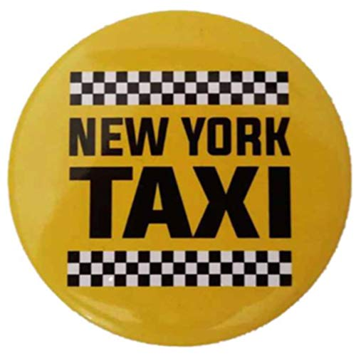 New York City Taxi Exclusive Refrigerator Magnet The Ancient Wealth of The Great USA Souvenir Round Photo Super Magnetic Fridge Magnet