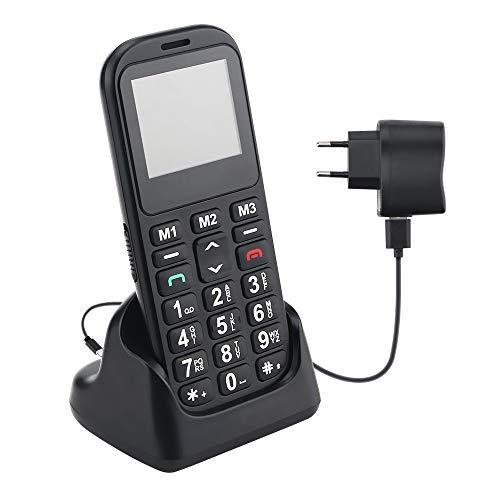 Mobiltelefon Seniorenhandy mit großen Tasten & ohne Vertrag, Mit Notruf-Knopf & 800 mAh Akku, Rentner Handy Großtastenhandy mit Ladestation & 1,77 Zoll Farbdisplay 2G GSM Handy notfallhandy