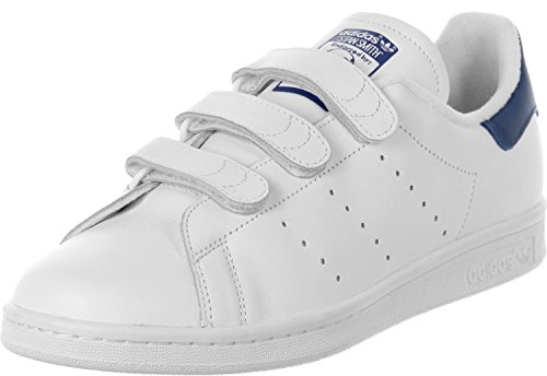Adidas Stan Smith CF, Zapatillas de Tenis para Hombre, Blanco (Footwear White/Footwear White/Collegiate Royal 0), 44 2/3 EU
