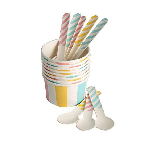 Eddingtons Paper Ice Cream vasche e cucchiai