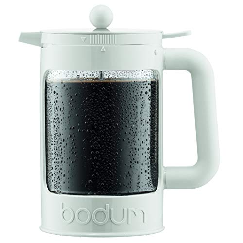 Bodum Bean Cold Brew Kaffeemaschine, 1,5 l, Hellweiß